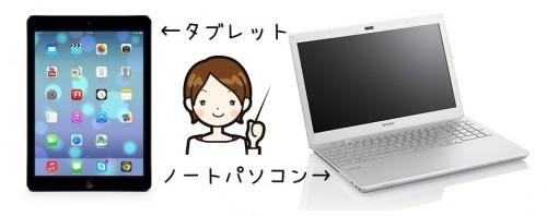 タブレットとノートパソコンの違い