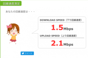 BIGLOBE格安SIMのスピードテスト結果