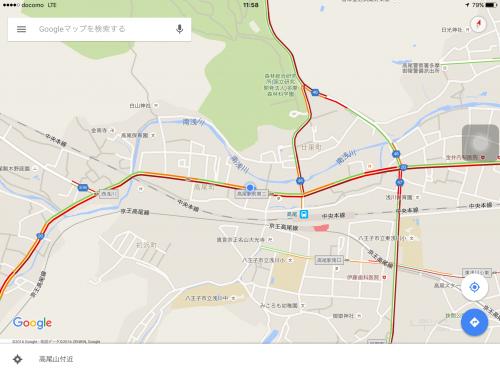 Googleマップ渋滞情報